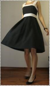 rochie alb negru 3
