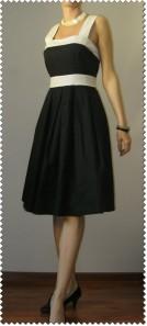 rochie alb-negru