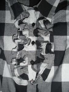 camasa carouri alb si negru
