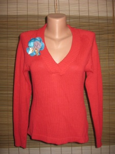 bluza rosie tricot