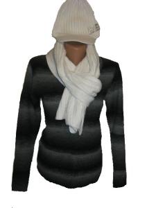 bluza lana si set fular si caciula