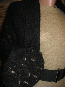 bolero HM negru tricot (2)