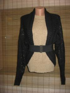 bolero HM negru tricot