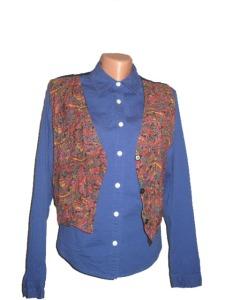 camasa bleumarin si vesta