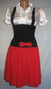 camasa cu bretele si fusta rosie (1)