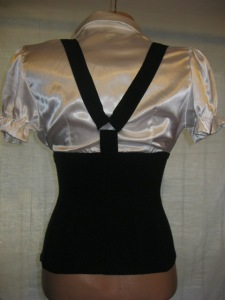 camasa cu bretele si fusta rosie (2)