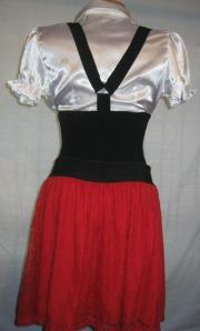 camasa cu bretele si fusta rosie (3)
