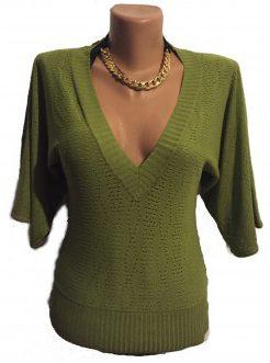 Bluza verde tricot