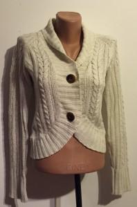 Bolero tricot crem tricotat