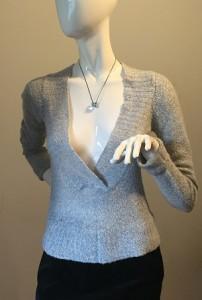 bluza dama tricot gri