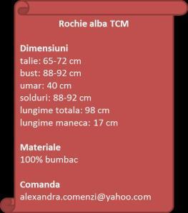 Rochhie alba bumbac de la TCM